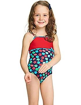 Zoggs, costume da bagno per bambine, motivo: mele, spalline classiche, ragazza, Appletizer Classic, Multi-Colour...