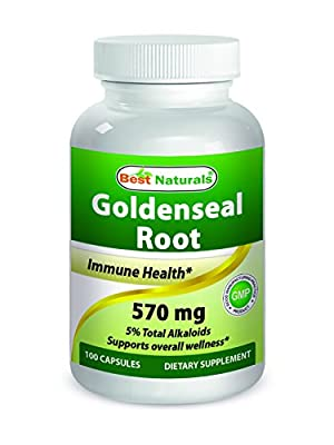Best Naturals Goldenseal Root 570 mg 100 Capsules from Best Naturals