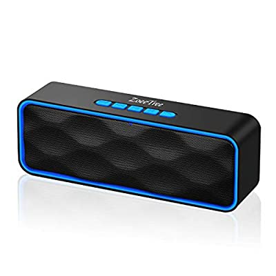 ZoeeTree S1 Wireless Bluetooth Speaker, Outdoor Stereo Speaker with HD Audio and Enhanced Bass, Built-In Dual Driver Speakerphone, Bluetooth 4.2, Handsfree Calling, FM Radio and TF Card Slot