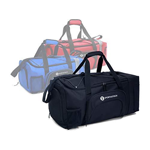 Sporttasche Sporty Bag | SCHWARZ | Große (L) bis kleine (S) Reisetasche mit zahlreichen Fächern für Frauen, Männer und Kinder | Bis zu 3 Jahre Garantie² ()