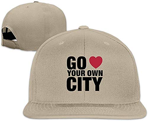 Custom Go Love Your Own City Adjustable Baseball Hat & Cap Natural ()