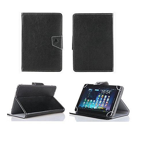 Universal tablet PC tasche 7 zoll Ultra Slim Leder Xeptio mit Ständer - Tasche Hülle Schutzhülle Case Cover Tablet 7 zoll für Asus Google Nexus 7 - Apple iPad mini - Samsung Galaxy Tab 2 Wifi und 3G P3100 P3110 P6200 P1000 P1010 - Ainol Novo 7 Fire / Crystal - Coby Kyros MID7022 - Tablet Android 4.0/4.1/4.2 - 3G 7 zoll) Lenovo IdeaTab A2107A - Acer Iconia B1 / Iconia A101 - HTC Flyer - TrekStor SurfTab Breeze 7.0 - Huawei Media Pad Tablet - Intenso Tab 714 - Fineslate T01E - Asus ME172V - Odys Next / Loox Plus / Pedi / Motion / Space / Select / Neo S7 -Nextwolf 7 - Dell Streak 7 - Polaroid Tablet 7 - BlackBerry Playbook - Touchlet 7 - Easypix SmartPad EP750 - Creative Ziio - A-rival Bioniq Pro - Archos Arnova 7H G3 - Prestigio MultiPad 7.0 ... (Zubehör PU Leder, Schwarz)