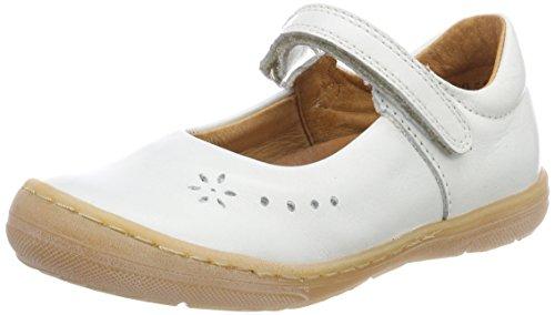 Froddo Mädchen Children Ballerina G3140070-6 Mary Jane Halbschuhe, Weiß (White), 32 EU (Mary Leder Sportliche Janes)