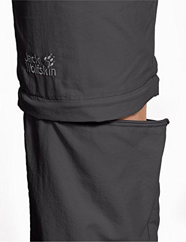 Jack Wolfskin Marrakech pour femme Zip Off Pants Gris - Acier foncé