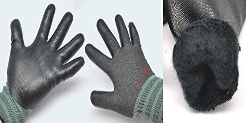 3M Arbeitshandschuhe, 3D Comfort Super _ Griff _ Hot Langlebig _ Nitril Palm, 3Paar Pack (Handgelenk-handschuh Palm, Stricken)