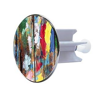 Sanitop-Wingenroth 19607 9 Excenterstopfen Metall 64 mm Design Farbkunst Groß