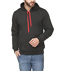 Scott Mens Premium Rich Cotton Pullover Hoodie Sweatshirt - Black