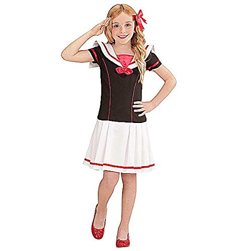 02205 - Kinderkostüm Matrosin Kleid, Gröߟe 116, Mehrfarbig