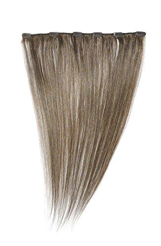 American Dream - A1/QFC12/18/8-100% Cheveux Naturels - Barrette Unique Extensions à Clipper - Couleur 8 - Brun Gris - 46 cm