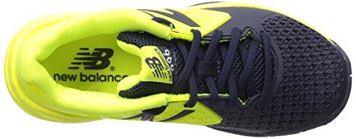 New Balance KC996V2 Tennis Youth Tennis Shoe (Little Kid/Big Kid), Yellow/Blue, 1 M US Little Kid Yellow/Blue