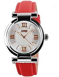 ufengke® elegante damen römische zahlen band armbanduhren,exquisite mädchen ball kleid geschenk handgelenk armbanduhren,rot