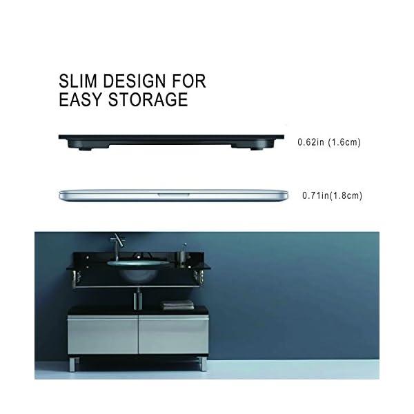 DEIK Bilancia Pesa Persona Digitale, LCD Schermo Retroilluminato, includere Metro a Nastro e 2 Batteria AAA, Elettronica… 5 spesavip