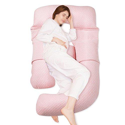 SPQRSXC Femmes enceintes oreiller soins oreiller allaitement et oreiller d'allaitement, oreiller de couchage côté taille oreiller en forme de G, coussin de soutien côté femelle endormi, lavable, (170