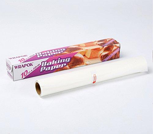 Papel de pergamino no adhesivo para hornear, papel con base de silicona, rollo de 30 cm x 10 m