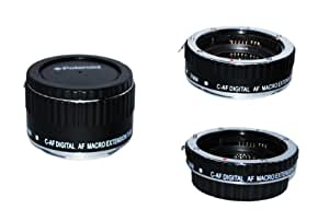 Polaroid Auto Focus DG Macro Extension Tube Set (13mm, 21mm, 31mm) For Canon Digital SLR Cameras