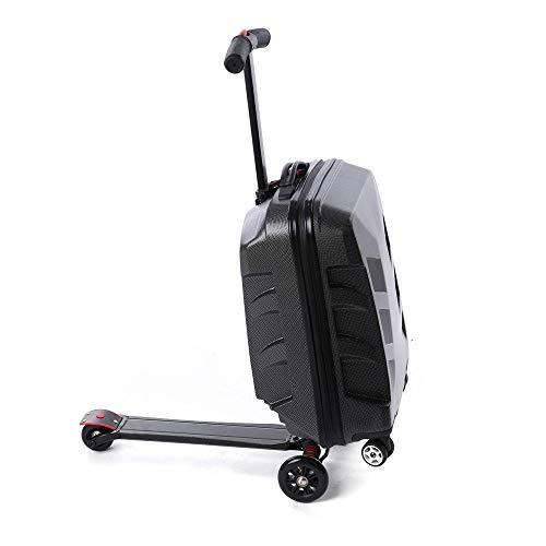 BTdahong 21 Zoll Gepäck Scooter Handgepäck strapazierfähiger Multi-Function Personalize Trolley Scooter Rollkoffer Roller Aluminiumlegierung -