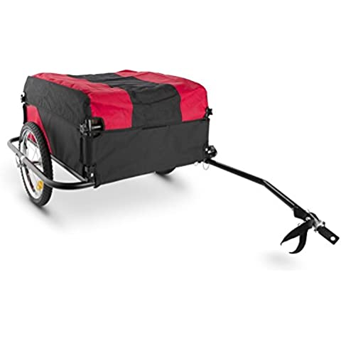 DURAMAXX Mountee remolque para bicicletas (desmontable, capacidad 130 litros, carga 60 kg, bastidor acero, neumáticos 16