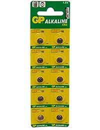 10 X GP AG3 192 LR41: Pilas alcalinas, paquete de 10