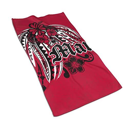Jacklee Haartrocken-Handtuch, Mikrofaser-Haartücher, schnell trocknend, saugfähiges Turban-Haarhandtuch, leicht, Maui Poly Tribal Distressed, 40 x 70 cm Poly Turban
