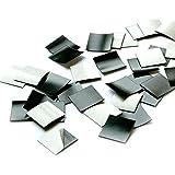 100er Set Magnet-Plättchen selbstklebend MAGSTICK® I mag_001 I Größe 2x2 cm I roh I für Foto Postkarte Poster Notizen I diy Kühlschrank-Magnet