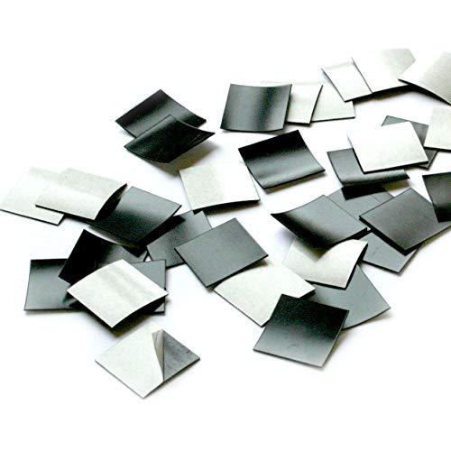 100er Set Magnet-Plättchen selbstklebend I Größe 2x2 cm I für Foto Postkarte Poster Notizen I DIY Kühlschrank-Magnet I mag_001 - Für Magnetische Abdeckungen Kühlschränke