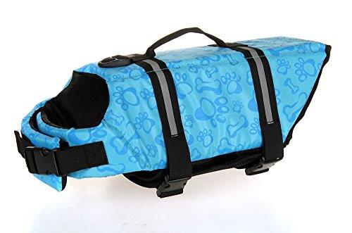E-bestar - giubbotto di salvataggio per cani, gilet-salvagente galleggiante per cani, pettorina fluorescente per animali domestici