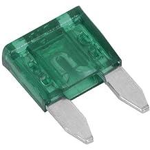 Car Spare 10x Mini Blade Fuses 30 Amp Fuse Box For Vehicles