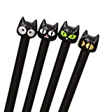 Black Cat Gel Pen Fashion Creative Office Stationery Household Items (A)