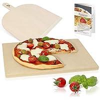 Amazy piedra para pizza – Dele a su pizza el original sabor italiano al horno de leña, tierno pero crujiente. (38 x 30 x 1,5 cm)