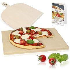 Idea Regalo - Amazy Pietra per pizza – Date alla vostra pizza l'originale sapore italiano della pizza tenera e croccante cotta nel forno di pietra (38 x 30 x 1,5 cm)