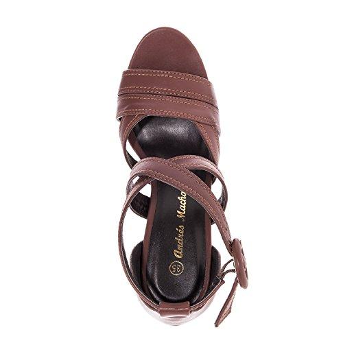 Andrés Machado.AM5135.Sandales en soft.Petites et Grandes Pointures 32/35-42/45 Marron