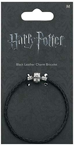 Harry Potter Black Leather Charm Bracelet Pulsera Negro M 13