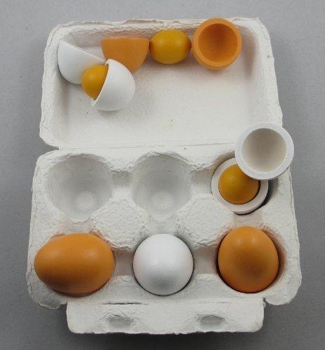 StillCool Holzeiern Eierset Küche Lebensmittel Kinder Spielen Bildungs 6pcs