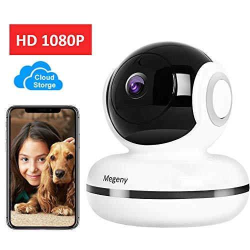 megeny HD 1080P WLAN Kamera IP Überwachungskamera mit Nachtsicht,Bewegungsmelder,Fernalarm,2-Way Audio,App Kontrolle,Indoor WiFi IP Camera,Home Kamera Baby/Haustier Monitor