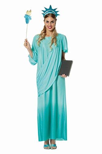 Das Kostüm Freiheitsstatue 3 teilig Amerika 34+38+42+46 (Liberty Erwachsene Lady Kostüme)
