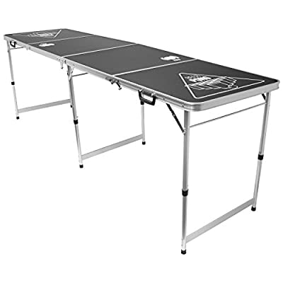 Beer Pong Table officielle pour jeux d'alcool 4 sections Aluminium Surface facile à nettoyer 2,4 m