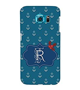 EPICCASE anchor of R Mobile Back Case Cover For Samsung Galaxy S6 Edge (Designer Case)