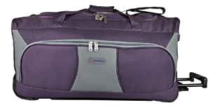 """5 Cities 30"""" Large Plum Grey Ripstop Material Wheeled Holdall Trolley Bag. Only 2.80kg and 102L Capacity."""