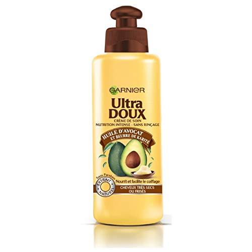 Garnier Ultra Doux à l'Huile d'Avocat et Beurre de Karité Crème de Soin sans Rinçage Cheveux Très Secs/Frisés