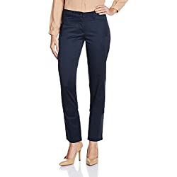 Arrow Women's Pleat Front Pants (ATRW13002_Navy_28)