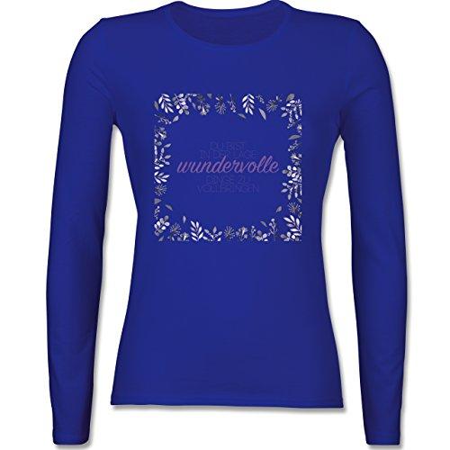 Statement Shirts - Inspirierende Zitate - Du kannst wundervolle Dinge - tailliertes  Longsleeve / langärmeliges T