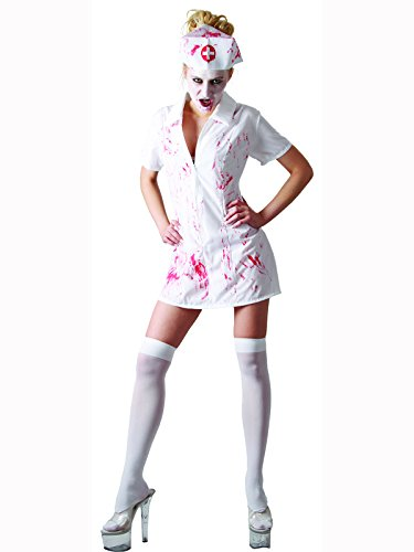 Womens Kostüm Zombie Killer - Adult Ladies Killer Nurse Costume (Women: 10-12)