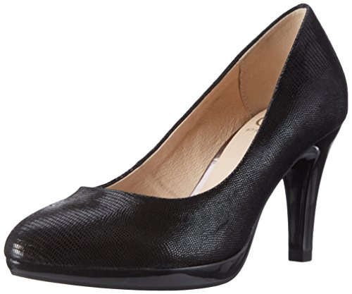 Caprice 22414, Escarpins Femme Noir (Black Reptile)