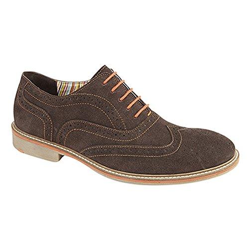 Roamers - Chaussures de ville en cuir - Homme Marron foncé