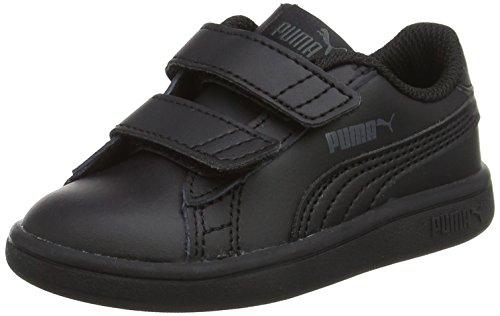 Puma Smash V2 L V Inf, Zapatillas Unisex Niños, Negro Black 1, 24 EU