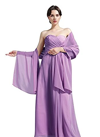 Women's Chiffon Shawl Scarves Stole Wrap for Bridesmaids Wedding Party
