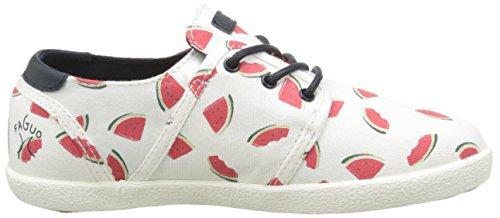 Faguo Cypress Velcro, Sneakers Basses mixte enfant Blanc (S1601 Watermelon)