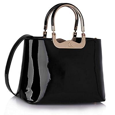 LEESUN LONDON Celebrity Style Handbags Ladies Tote Bag Large Shoulder Bag Patent Bags Womens Fashion Bags