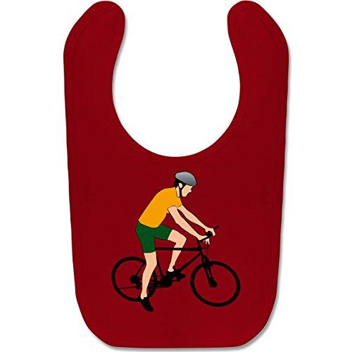 Sport Baby - Fahrradfahrer Citybike Radfahrer - Unisize - Rot - BZ12 - Baby Lätzchen Baumwolle