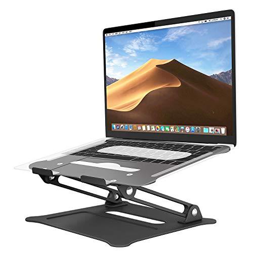 SAVFY verstellbar Laptop Stander, Laptop Ständer Aluminium Universal Stander Ergonomisch Tragbar Faltbar Tablet Ständer für MacBook iPad Notebook Sony, Dell, Lenovo bis zu 17 Zoll, Buch